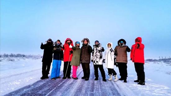 全球首次10个中国人极夜期间在北极圈内徒步抵达北冰洋