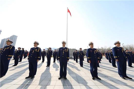 郑州市消防救援支队正式挂牌