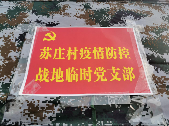 发挥党建统领优势 苏庄村疫情防控卡口成立临时党支部
