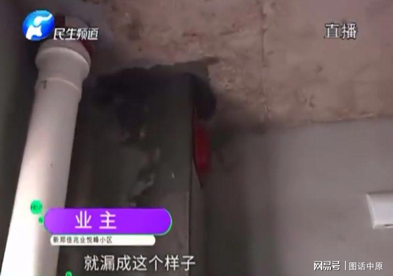 新郑佳兆业悦峰绿化缩水房屋漏水先交费再验收,新房交付问题多多