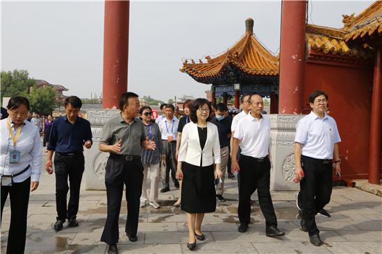 河南省黄河文化研学旅行会议观摩团莅临中国翰园碑林进行研学观摩