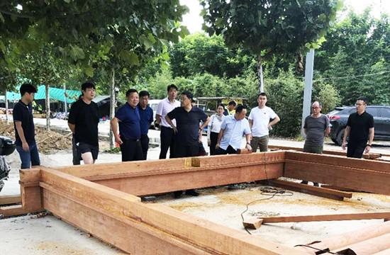 郑州市惠济区区委书记马军视察觅庭木结构黄河海事处项目